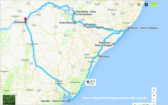 Viagem de carro por um pedacinho do Nordeste!