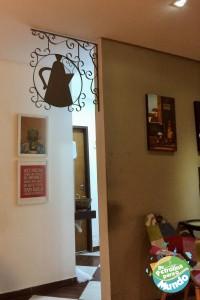 Parte interna do Café de Bule