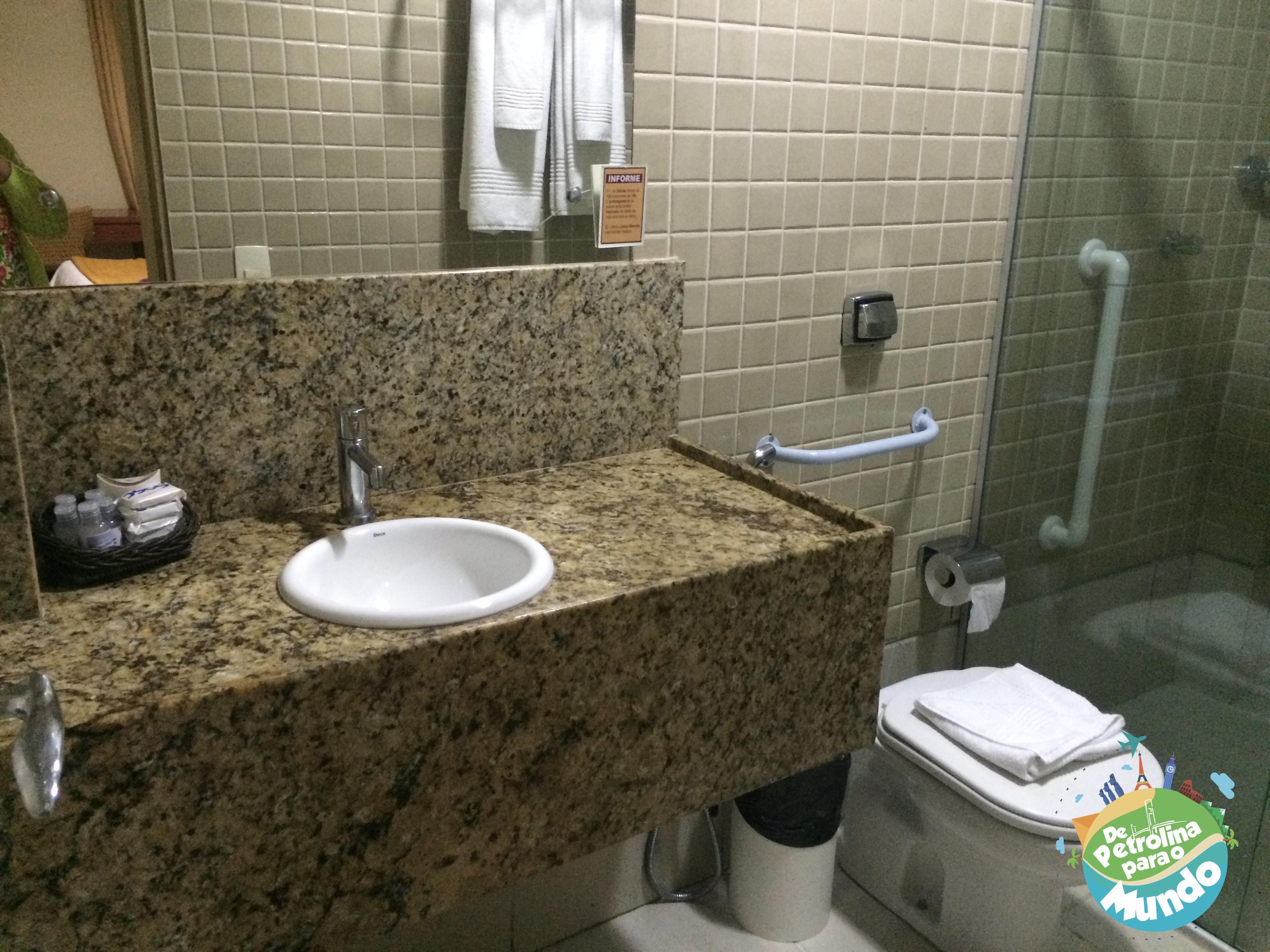 Banheiro do Hotel do Sesc em Garanhuns em PE